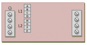 PDm200B Voltage Configuration Jumper Locations