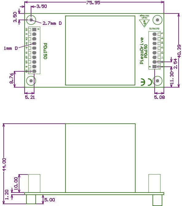 PDu150 Dimensions