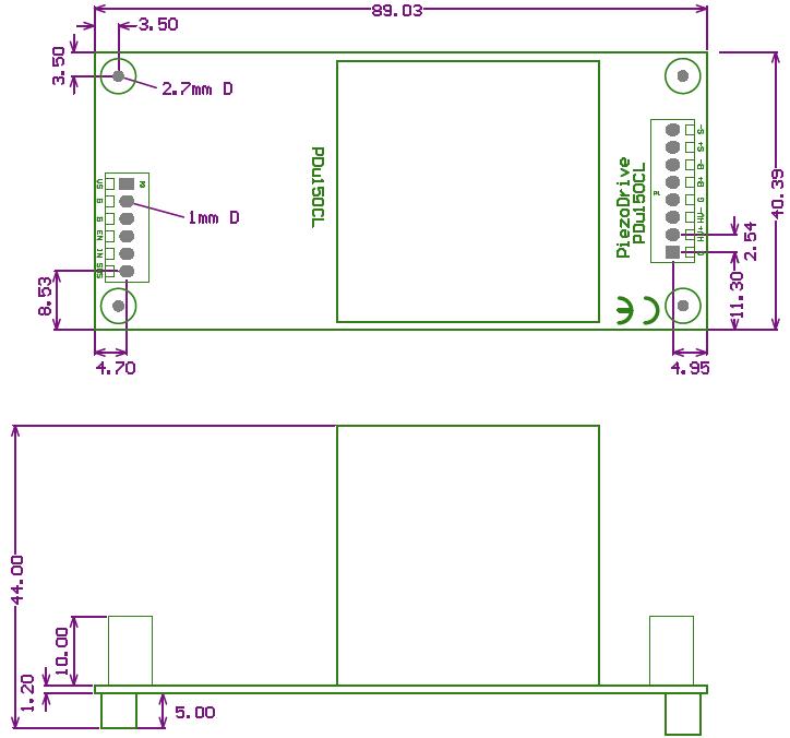 PDu150CL Dimensions
