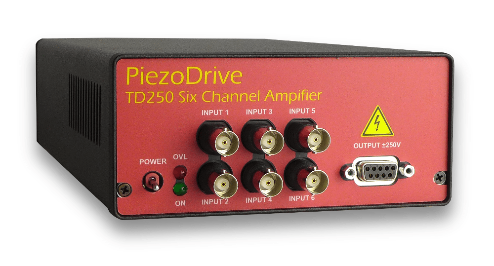 TD250 Six Channel 250V Amplifier for Driving Piezo Tubes