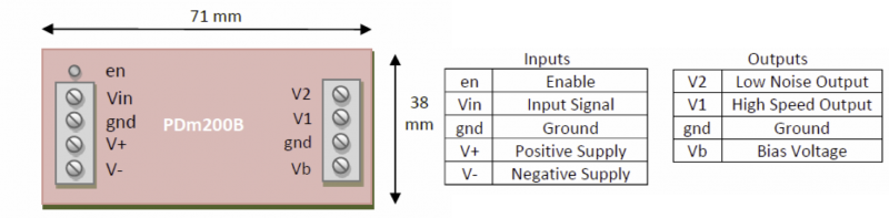 PDm200B Connection Diagram
