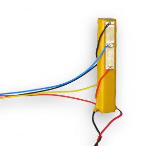 Piezoelectric stack actuator with strain gauge