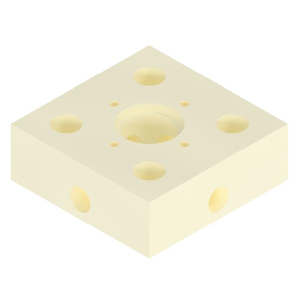 Base for 6mm OD Tubes -
